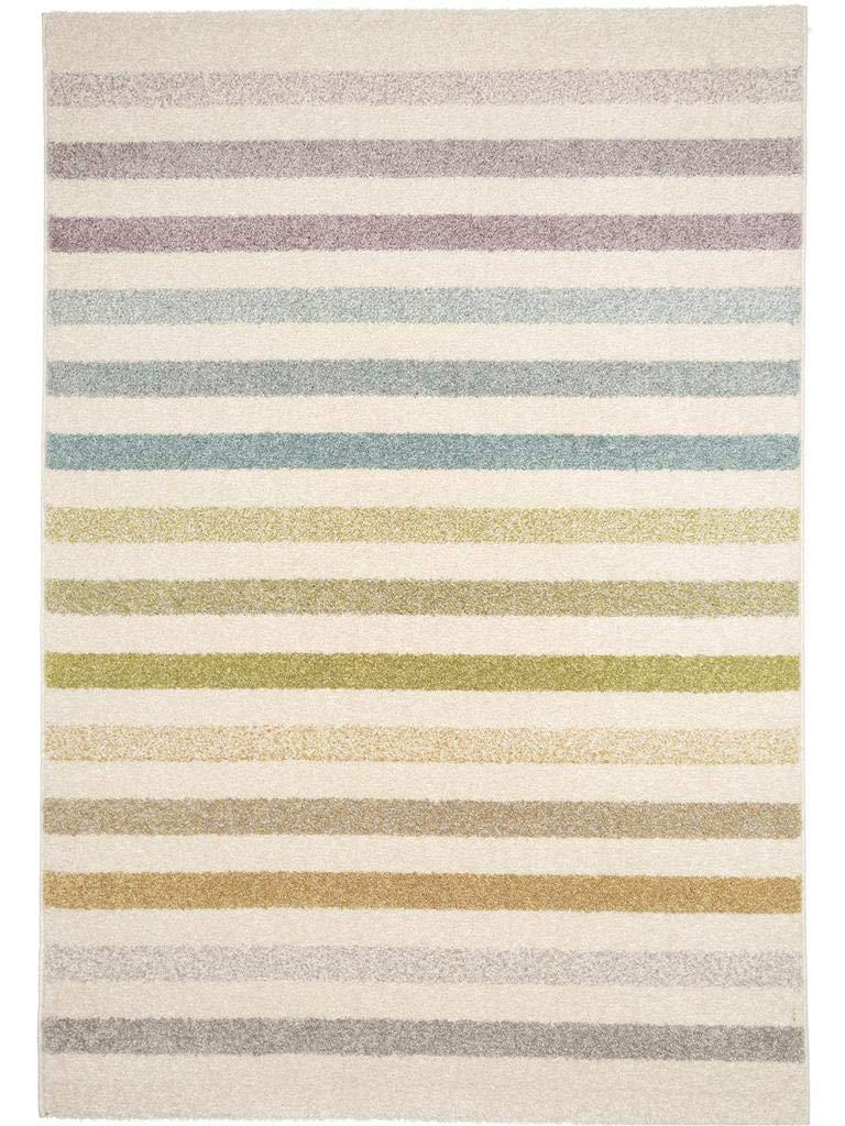 Benuta Teppich Pastel Striped Beige 160x230 cm   Moderner Teppich für Wohn- und Schlafzimmer