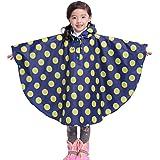Gagacity Riutilizzabile Poncho Impermeabile Bambini Incappucciati Pioggia Giacca Leggero Bambino per Unisex 80-160cm con Borsa