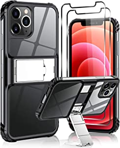 Guarm Cell Phone Case Compatible for iPhone 12 iPhone 12 Pro Case, Drop Tested Protective Case | Hoslter | Anti-Slip Full Body Protection Cover Fits Apple iPhone 12 (2 × Screen Protectors)
