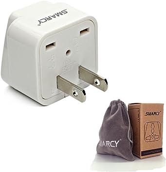 SMARCY Adaptador de Viaje Adaptador Enchufe para USA Canadá Japón Tailandia etc.: Amazon.es: Electrónica