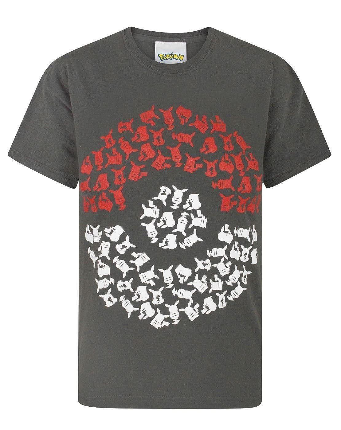 Pokemon Pika Pokeball Boy's T-Shirt Fashion UK