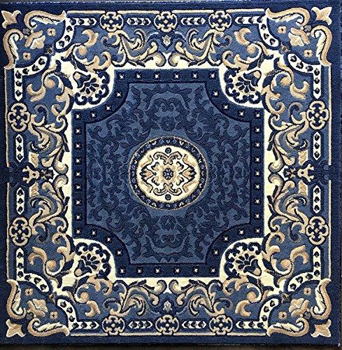 - Americana Traditional Square Persian Area Rug Light Blue Design 101 (5 Feet 3 Inch X 5 Feet 3 Inch Square)