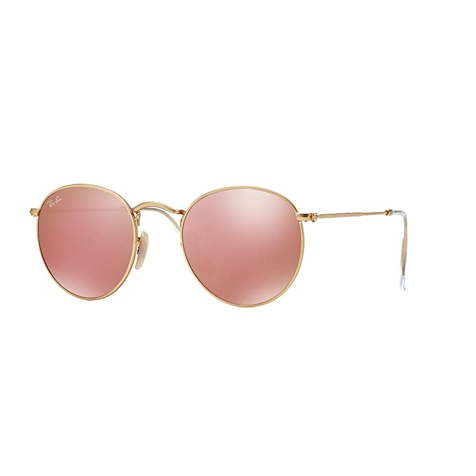 bfde2438c Ray-Ban Round Pink Mirror Sunglasses RB 3447 112/Z2 50mm + SD Glasses +  Cleaner: Amazon.ca: Clothing & Accessories