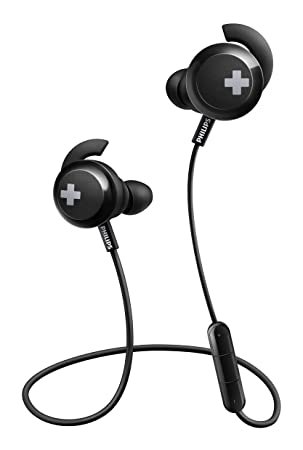 d9ee14745fc Philips SHB4305BK Bass+ Bluetooth Earphones, Wireless with Mic, Deep Bass,  Ideal for Sport