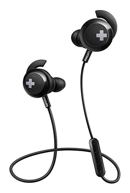 Philips SHB4305 Bass+ - Auriculares Bluetooth inalámbricos (para movil o Running, ergonómico, Ultraligero