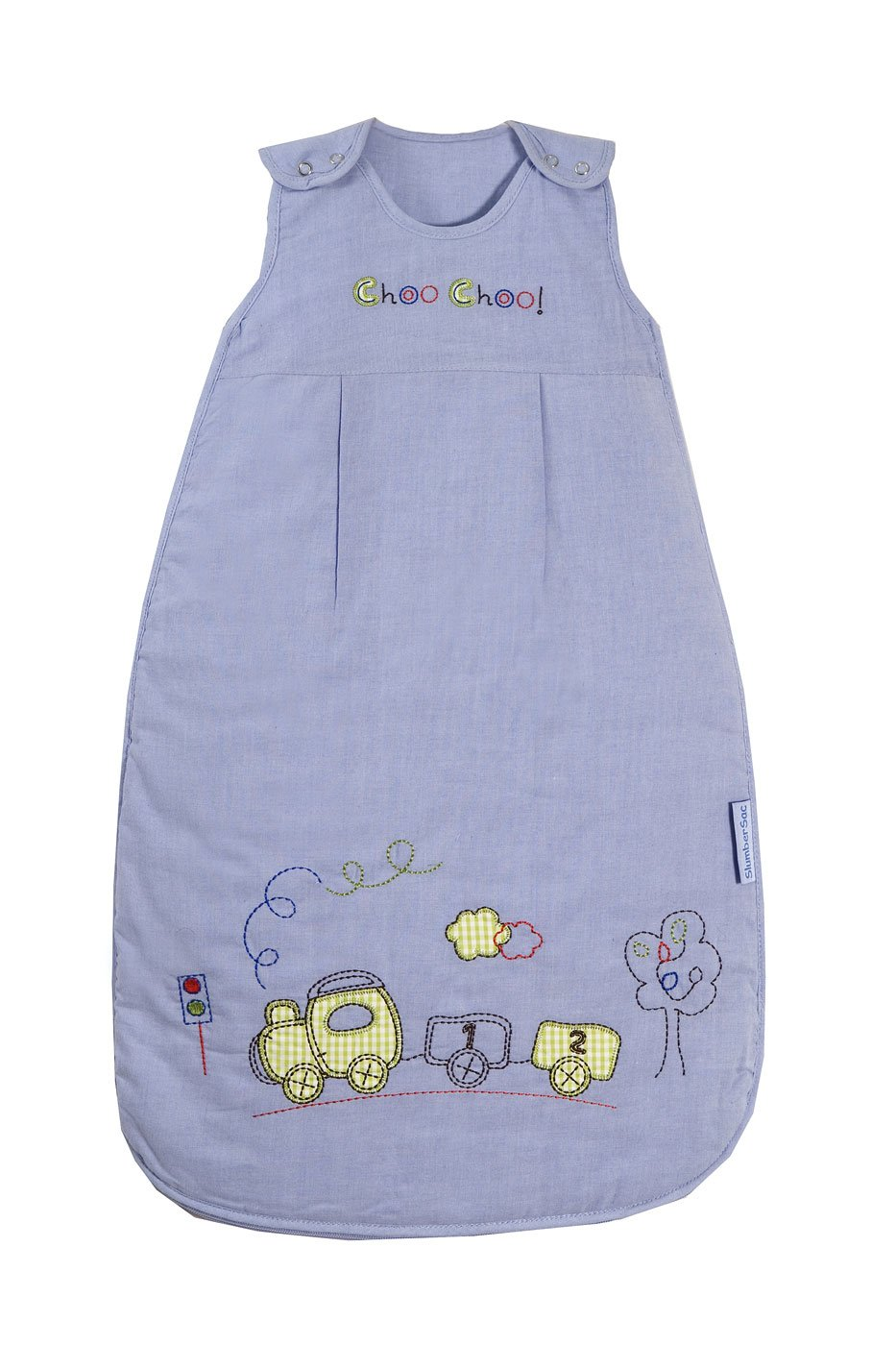 Slumbersafe Summer Baby Sleeping Bag 1 Tog - Choo Choo, 0-6 months/SMALL