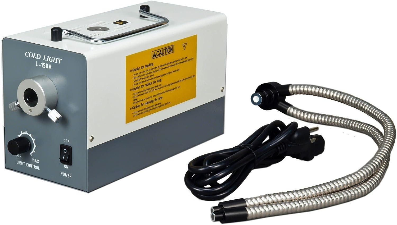 OMAX 2X-270X USB3 14MP Simal-Focal Zoom Stereo Microscope on Ball-Bearing Boom with 150W Dual Fiber Light