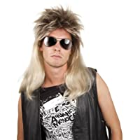 Boland 86060, adult pop rock, mullet, long hair wig, blonde/brown
