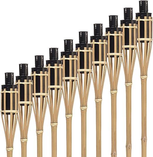 Hussala Turin Aceite Antorcha de bambú 100 cm [10 Unidades]: Amazon.es: Jardín