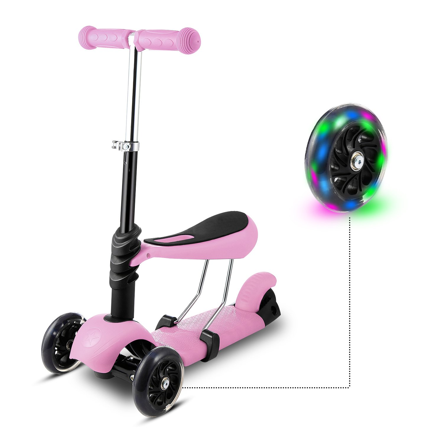 weskate 3 in 1 kleinkinder kinder roller scooter 3 r der. Black Bedroom Furniture Sets. Home Design Ideas