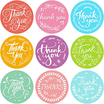 Baby Shower Stickers Thank you labels Packaging Thank You Stickers Wedding Stickers Fun Stickers Colorful Business Thank You Stickers