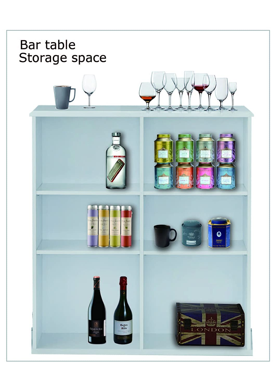 OTTMAR Küche Bar Tisch in L Form h0013202ab: Amazon.de: Küche & Haushalt