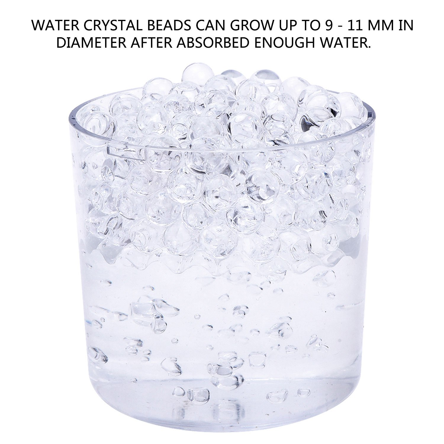 10000 pieces gel soil water crystal beads jelly water gems vase 10000 pieces gel soil water crystal beads jelly water gems vase filler clear amazon kitchen home reviewsmspy