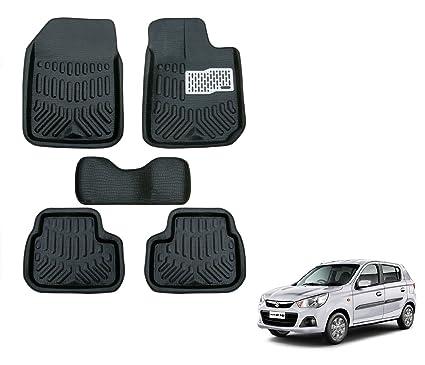 Auto Hub Premium 4d Car Mats For Maruti Suzuki Alto K10 Black