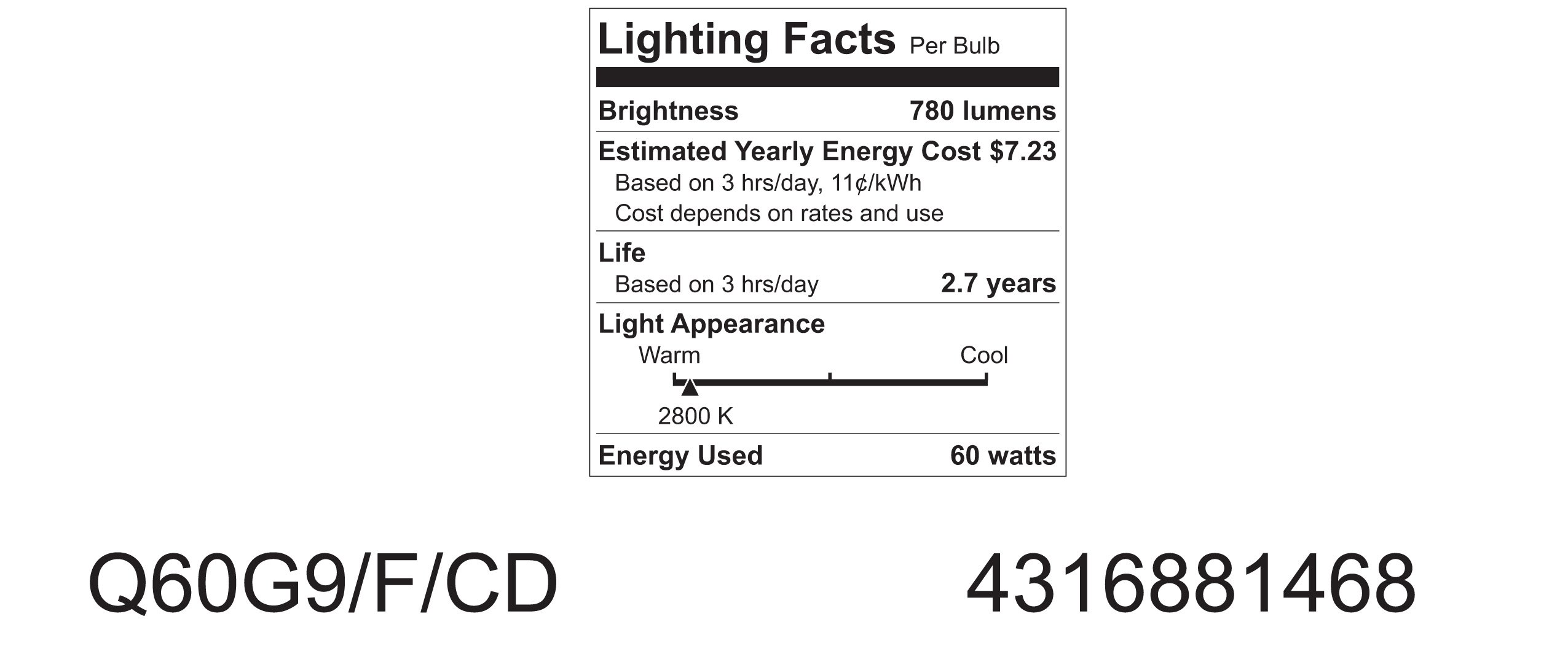 GE Lighting 81468 60-Watt 780-Lumen T4 Light Bulb with G9 Base, 5-Pack