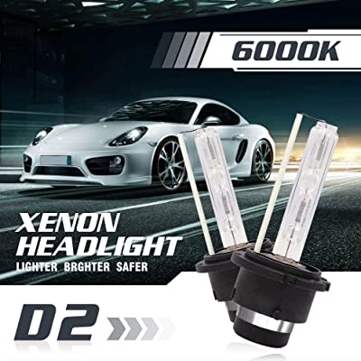 DUOLUTONG D2S D2C D2R HID Xenon Headlights Factory Light Bulbs Replacment 6000K Diamond White 12V Car OEM Headlights Low Beam Headlamps 35W Pack of 2: Automotive