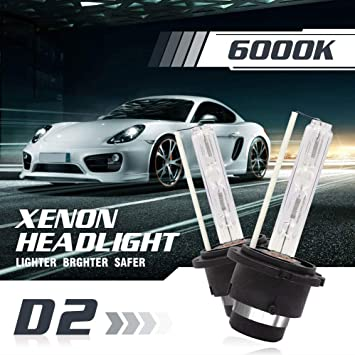 D2S ICE WHITE XENON HID LIGHT BULBS HEADLIGHT HEADLAMP 6000K 35W FACTORY FIT 1