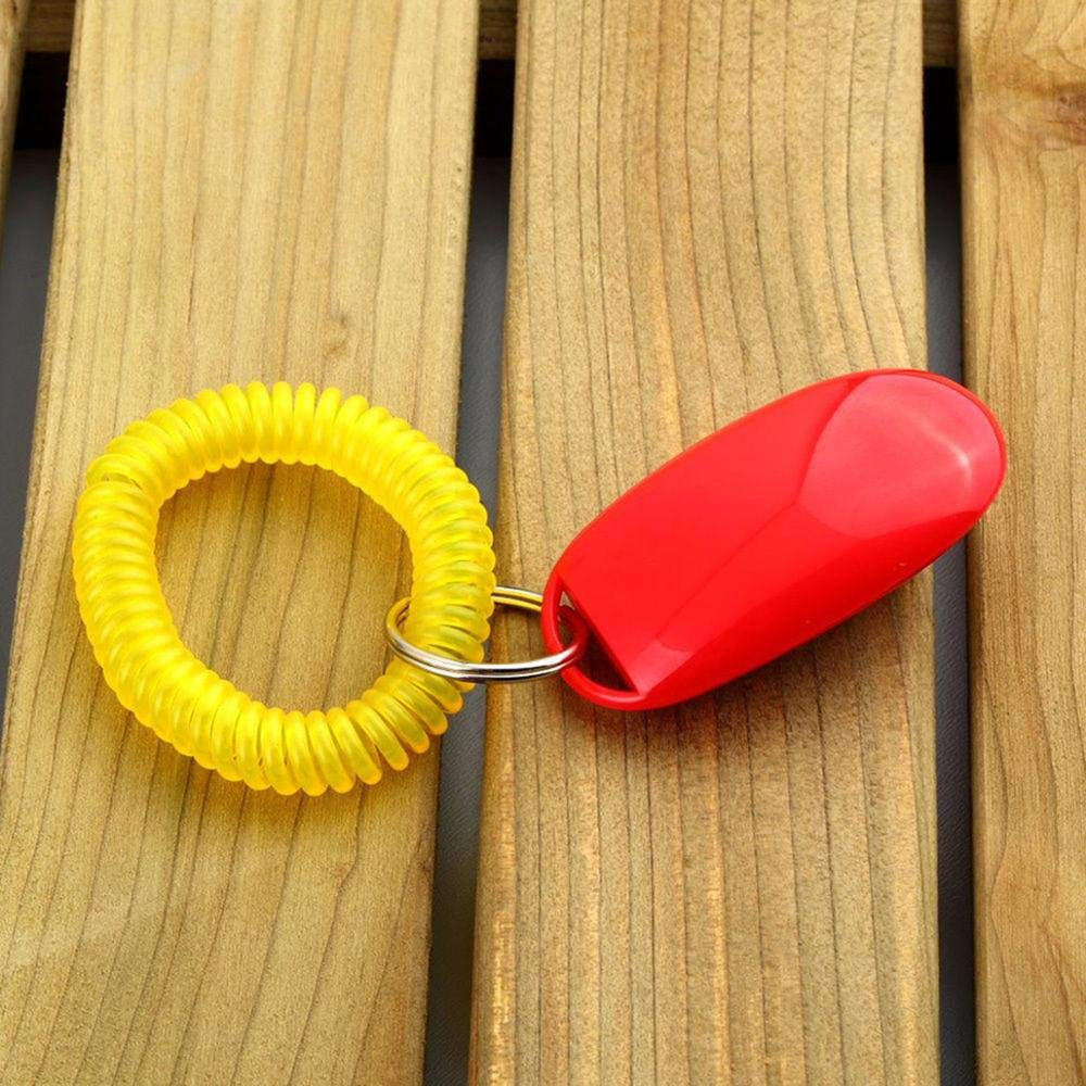 D-Modern Puppy Dog Cat Pet Click Clicker Whistle Training Obedience Aid Wrist Strap Guide by D-Modern