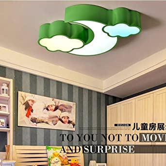 GBYZHMH Kreative Mond Wolken Schlafzimmer LED Deckenleuchten Kinder  Decke  Lampen Schlafzimmer Wohnzimmer (Blau