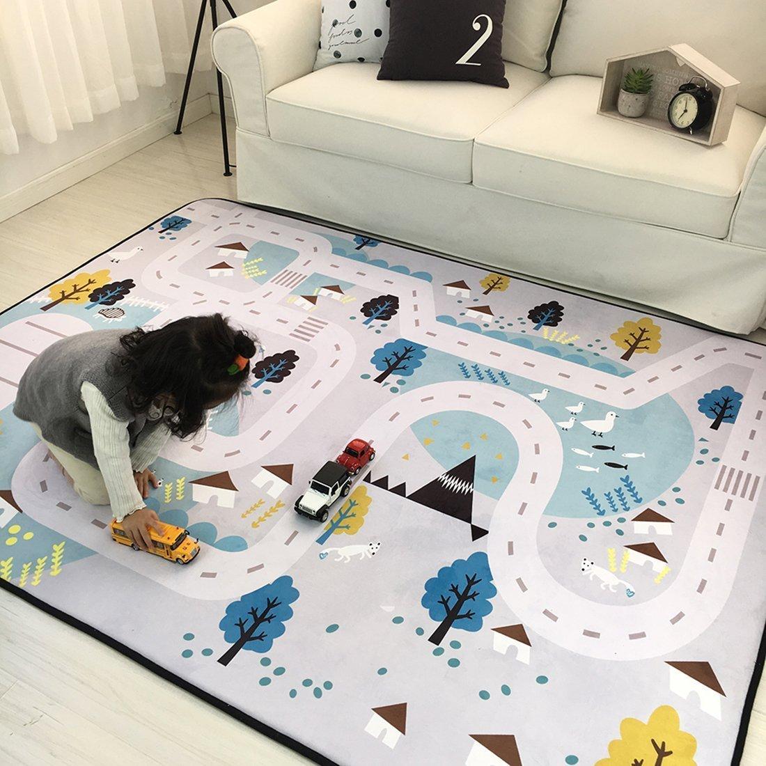 Amazon.com: Cusphorn Kids Carpet Playmat Rug Village Life Great For ...