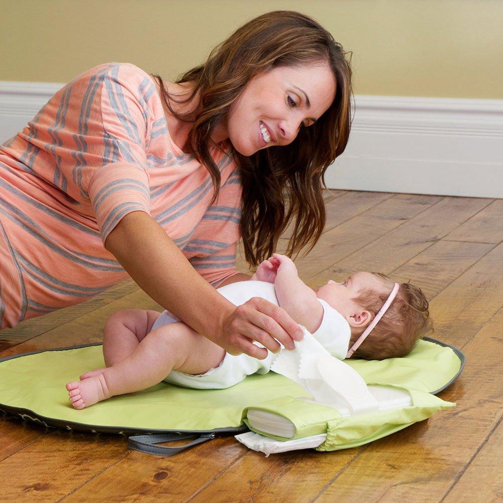Baby-Windel-/ändernde Matte tragbare Falten-/ändernde Matte-Spielraum-/ändernde Matten-Baby-Wischt/ücher Zus/ätze f/ür Windel-Grau