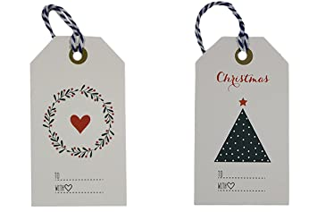 amazon com elegant christmas gift tags with blue bakers twine pre