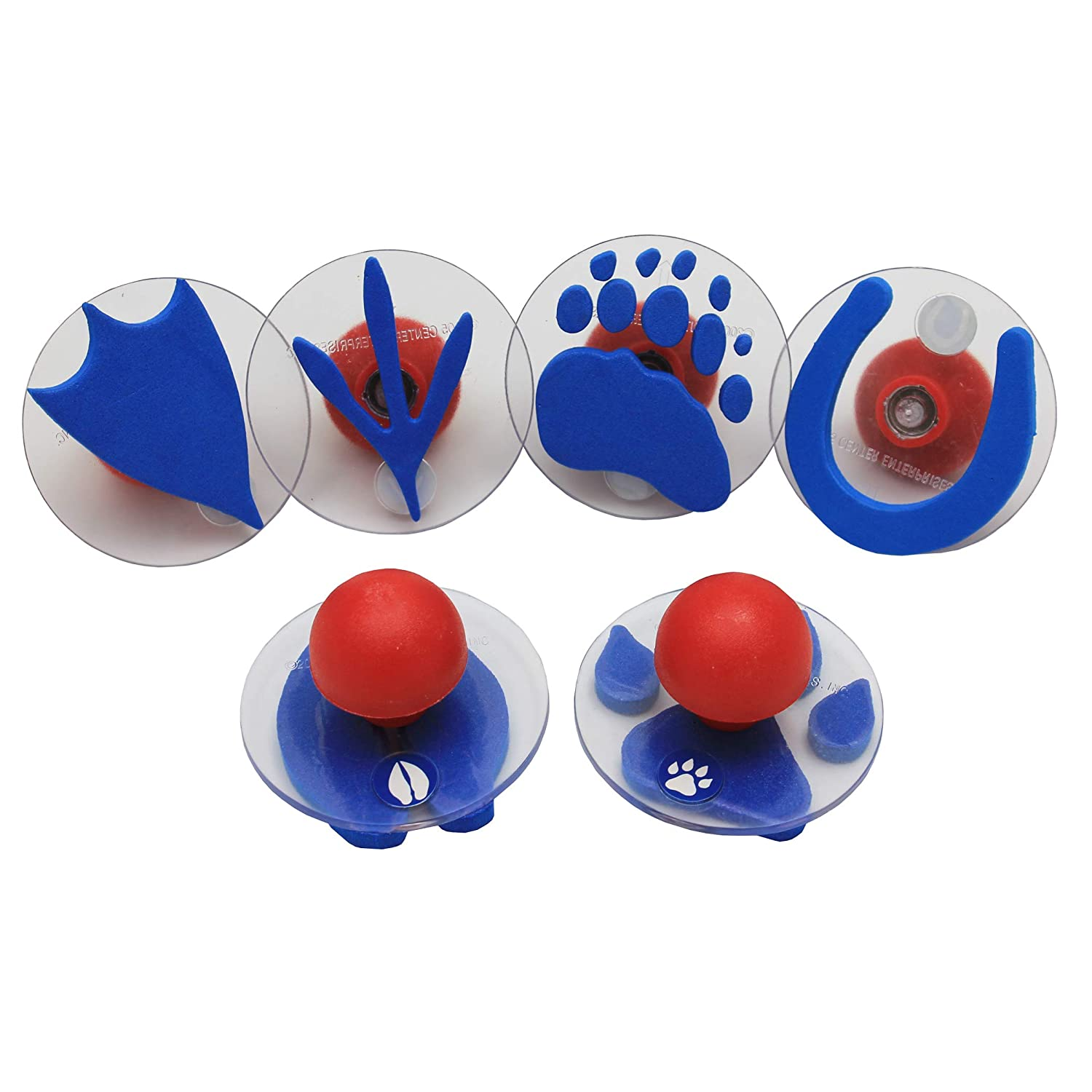 Center Enterprises Inc. Ready2Learn Giant Stampers, Paw Prints, 6/Set
