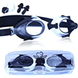 Kids Swim Goggles with Anti-fog, No Leaking & UV Protection Swimming Goggles with Soft Frame Perfect for 3 to 10 Years Old Girls, Boys, Children, Teens with Free Protective Case