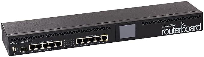 MikroTik RB2011UiAS-RM Routerboard Rackmount 5xLAN 5xGbit LAN 1xSFP Network Hubs at amazon