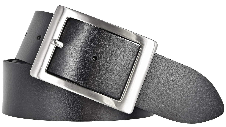 TALLA 95. Bernd Götz - Cinturón de piel para mujer, 40 mm, piel napa, se puede acortar, color negro