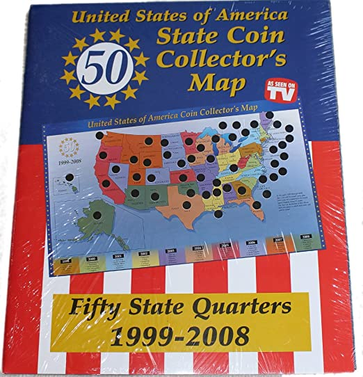 amazon com united states of america state coin collector s map by tri star toys games
