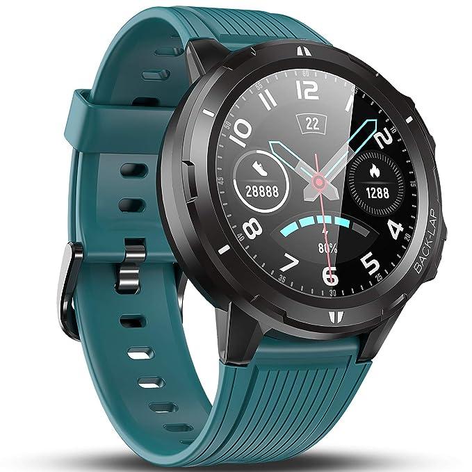 Vigorun Smartwatch Reloj Inteligente Hombre Mujer, Pantalla Táctil Completa Relojes Deportivos, Monitor Ritmo Cardíaco y Sueño, Podómetro, Impermeable Pulsera Actividad Inteligente Android iOS Azul