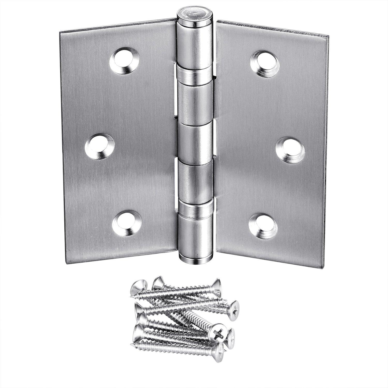 10-Pack Door Hinges, Commercial 3.5'' X 3.5'' Security Exterior Stainless Steel Door Hinge Pins with Stainless Steel Screws by LITVZ