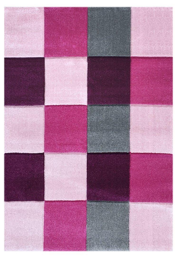 Livone Kinderteppich Happy Rugs Checker rosa pink 160 x 230 cm