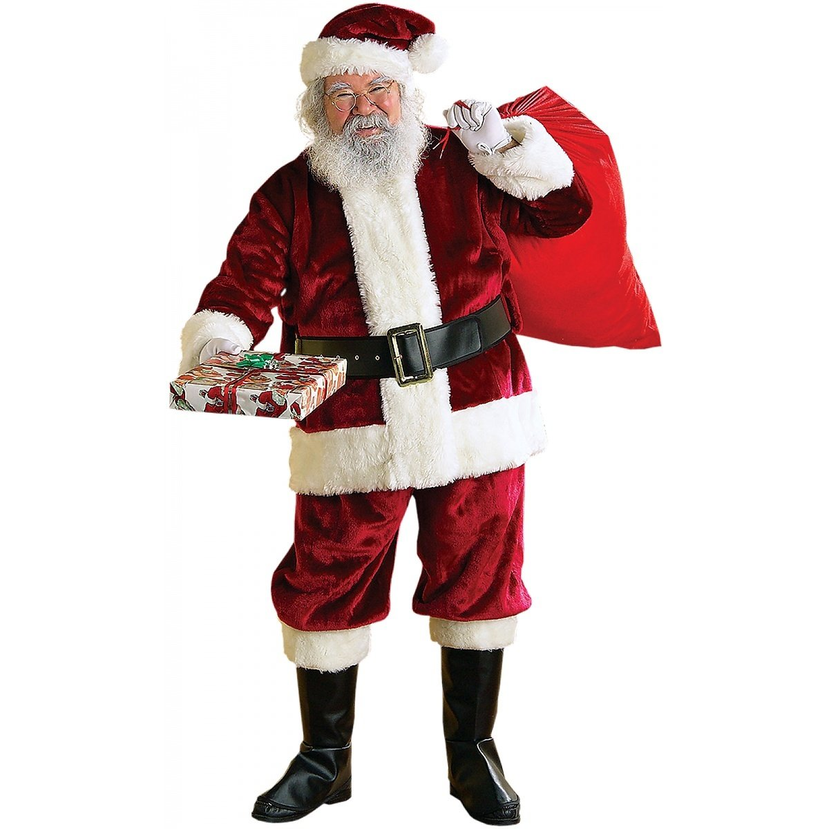 Adult XXL Crimson Regency Plush Santa Suit