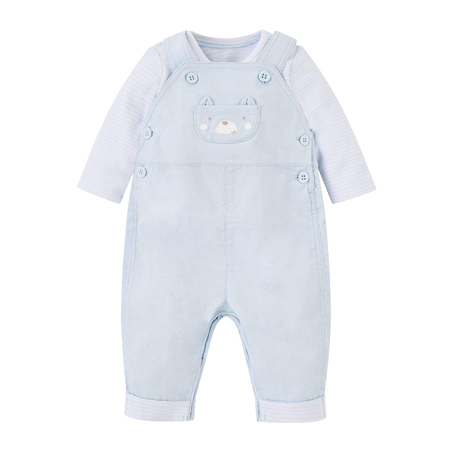 Mothercare Baby Boys' Cord Dungaree & Body QD572