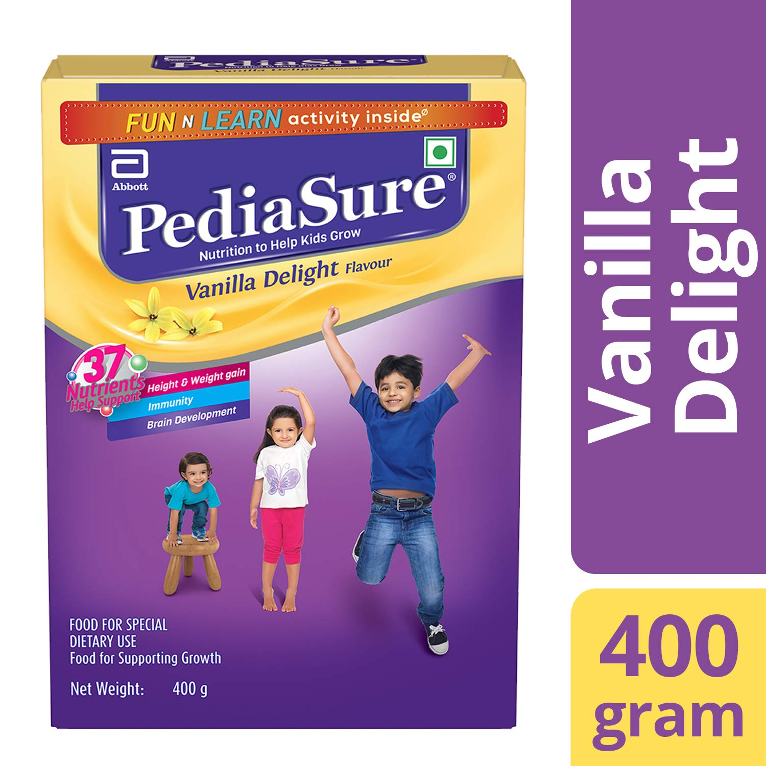Buy Pediasure Health Nutrition Drink Powder For Kids Growth 400g Enfagrow A Plus 3 1800 Gram Vanilla Box Online At Low Prices In India