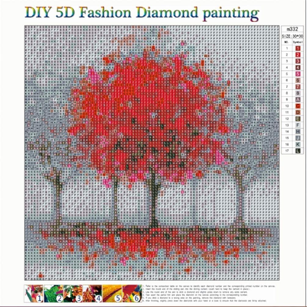 SULISO 5D DIY Diamond Painting Kristall Diamant Painting Full Gro/ß 5D Diamant Malerei Kits Stickerei Kunsthandwerk f/ür Erwachsene Kinder Gl/ücksbaum 30 x 30 cm