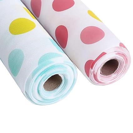 Skywalk Anti Slip Kitchen Cupboard PVC Roll Drawer Liner Mats (Multicolour, Size-30 X 500Cm) - Set of 2