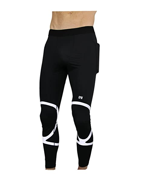 d05e1403607a1 Amazon.com : THE II BRO Compression Pants Men (Reflective) with Pockets by  RPM : Sports & Outdoors