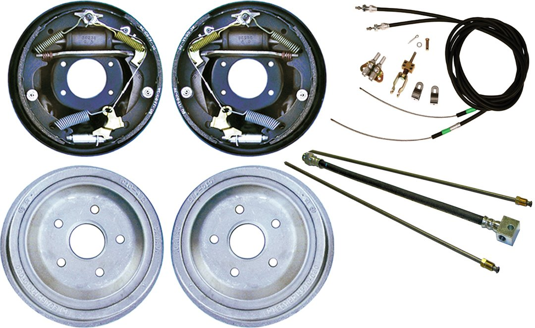 NEW CURRIE 67-70 MUSTANG REAR END WITH 11'' DRUM BRAKES, BRAKE LINES, PARKING BRAKE CABLES, AXLES, & BEARINGS, 1967, 1968, 1969, 1970 MUSTANG, RANCHERO, COMET, COUGAR by Southwest Speed