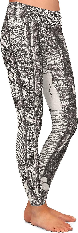 Athletic Yoga Leggings from DiaNoche Designs by Gerry Segismundo Moonlight Sonata 1