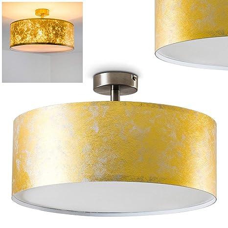 Lámpara de techo Foggia color dorado, 40 cm, 3 x 40W max ...