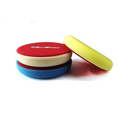 Maxshine Flat Foam Pad Stack - 5 Inch 3 Pack: Automotive
