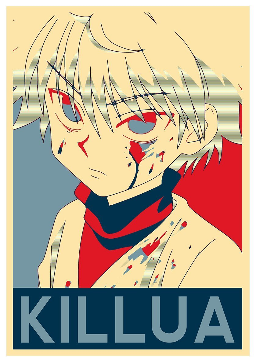 Instabuy Poster Hunter X Hunter Propaganda Killua A3 42x30 Cm