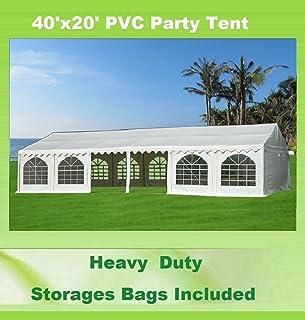 40u0027x20u0027 PVC Party Tent - Heavy Duty Wedding Canopy Gazebo Carport - with  sc 1 st  Amazon.com & Amazon.com : Shade Tree 20u0027 x 40u0027 Heavy Duty Event Party Wedding ...