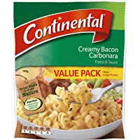 Continental Pasta & Sauce Creamy Bacon Carbonara 5 Pack 145G