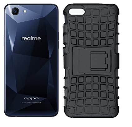 new product 6ce15 e2f4d Karimobz Tough Military Grade Armor Defender Series Kickstand Case Back  Oppo Realme 1