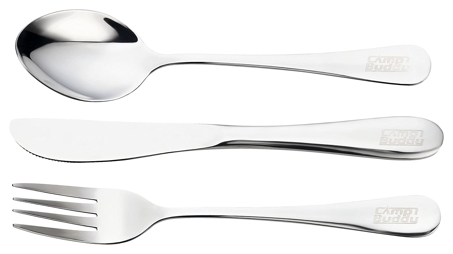 CampBuddy cutlery set two pieces Stainless steel