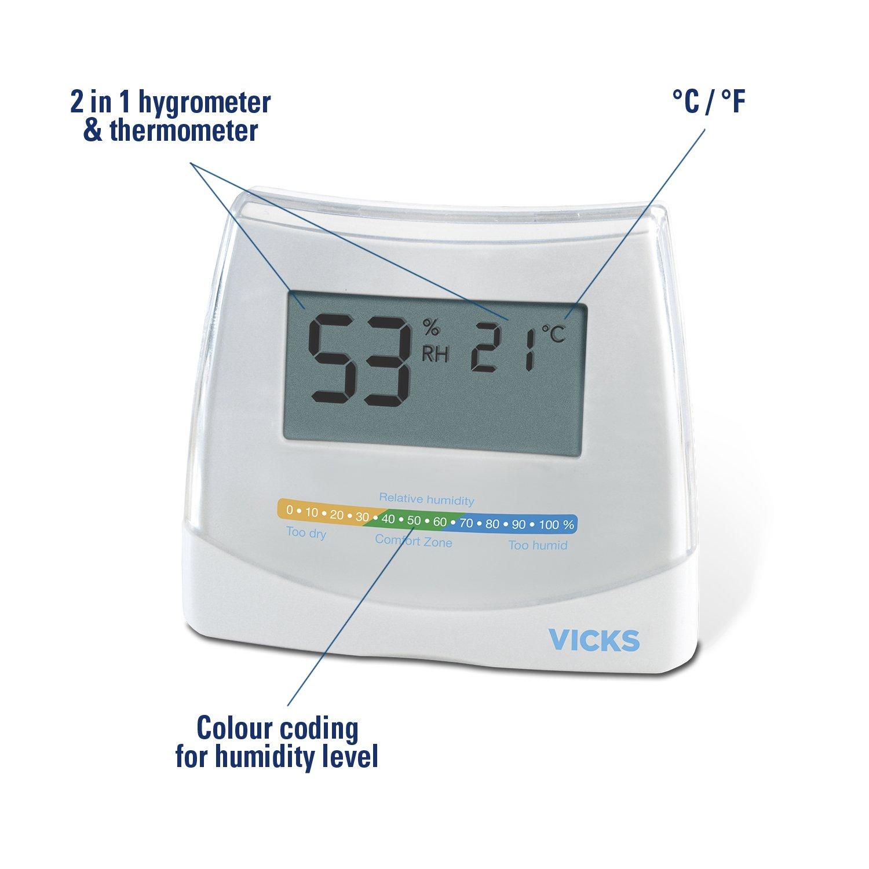 Term/ómetro 2 en 1 Vicks V70 Vicks Higr/ómetro